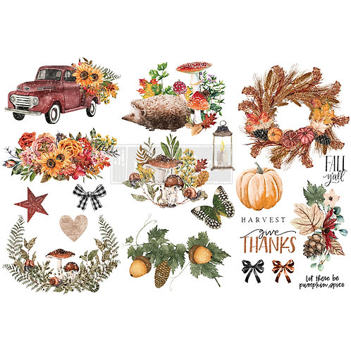 Autumn Essentials-     Prima Mini Transfer
