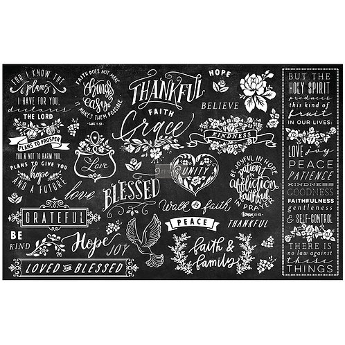 Thankful & Blessed II - Prima Mulberry Paper