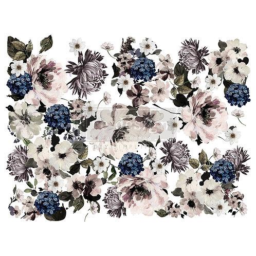 Dark Floral - Prima Transfer