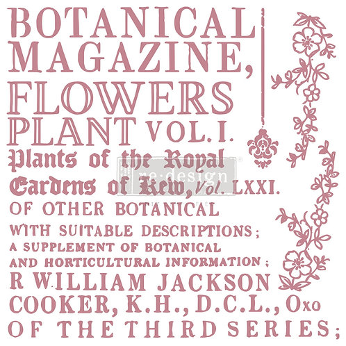 Botanical Encyclopedia - Prima Clear Cling Stamp