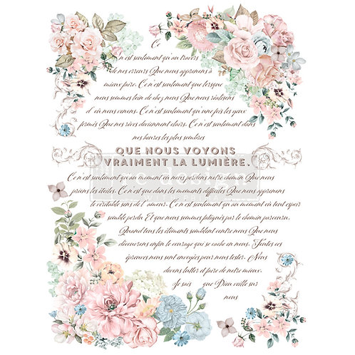Pure Light Floral    -Prima Transfer