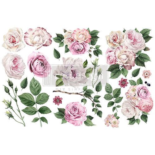 Delicate Roses-     Prima Mini Transfer