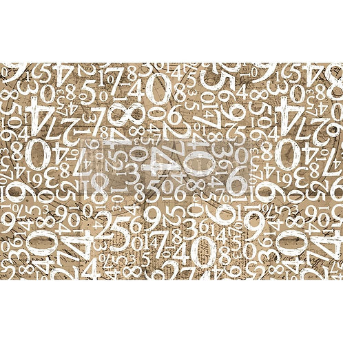 Engraved Numbers  - Prima Mulberry Paper