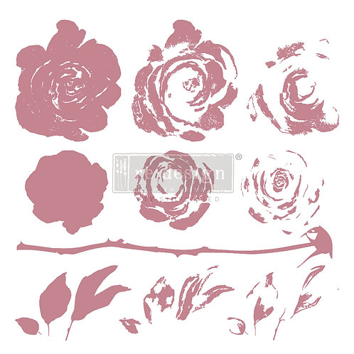 Mystic Rose - Prima Clear Cling Stamp