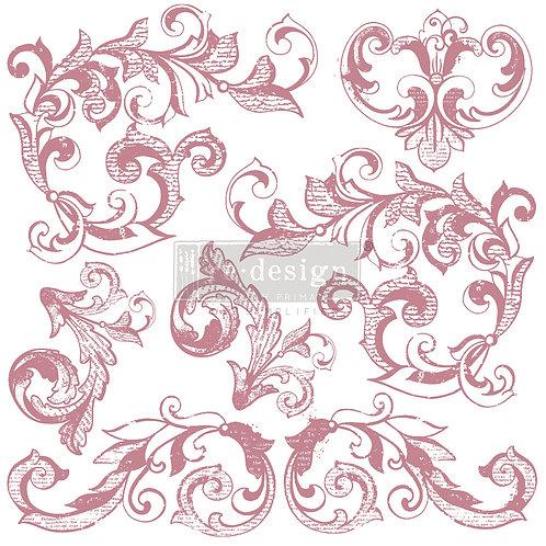 Elegant Scrolls - Prima Clear Cling Stamp