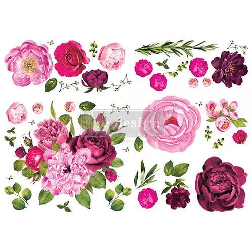 Lush Floral 1   -Prima Transfer