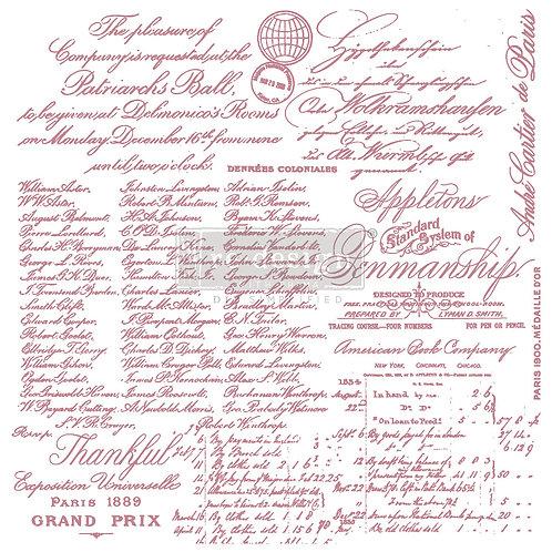 Handwritten Note - Prima Clear Cling Stamp
