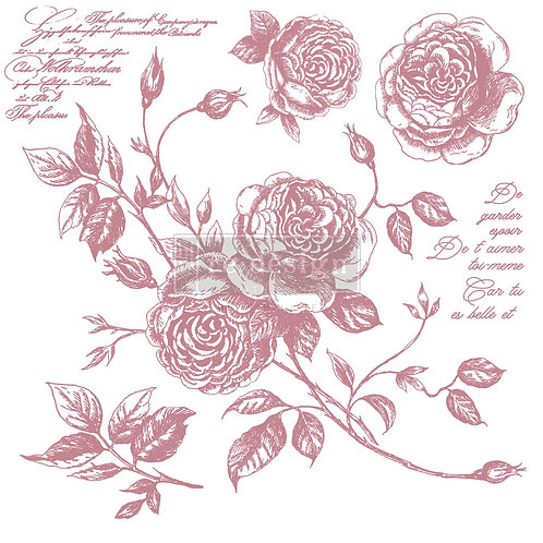 Romance Roses - Prima Clear Cling Stamp
