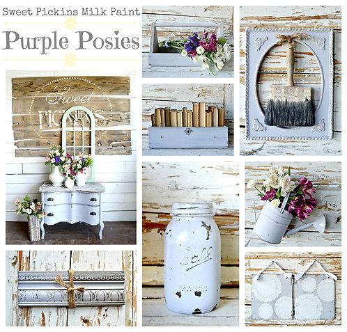 Purple Posies- Milk Paint