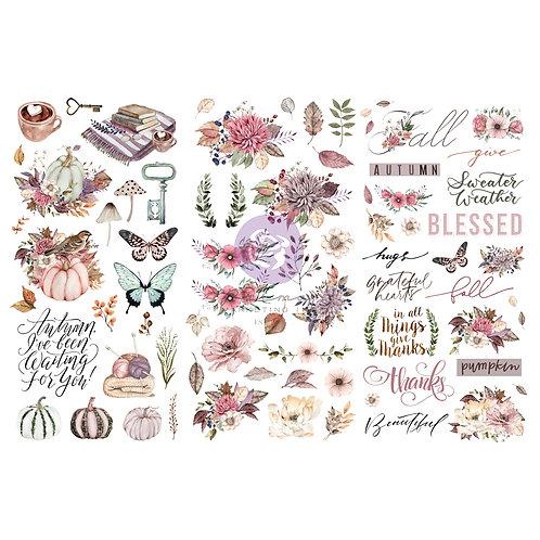 Hello Pink Autumn-     Prima Mini Transfer
