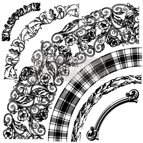 Curved Accents - Prima Clear Cling Stamp