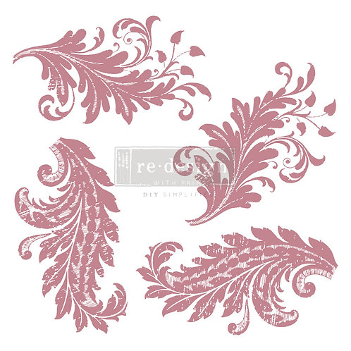 Royal Flourish - Prima Clear Cling Stamp