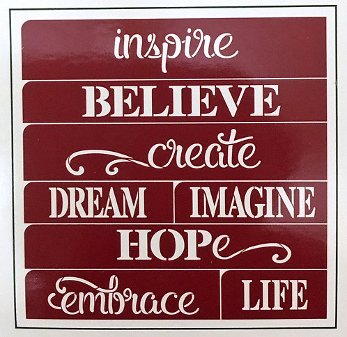 Inspiring Words  - Stencil