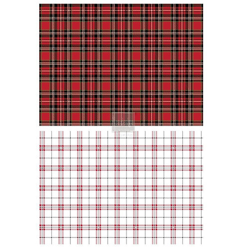 Gingham Red  -Prima Transfer