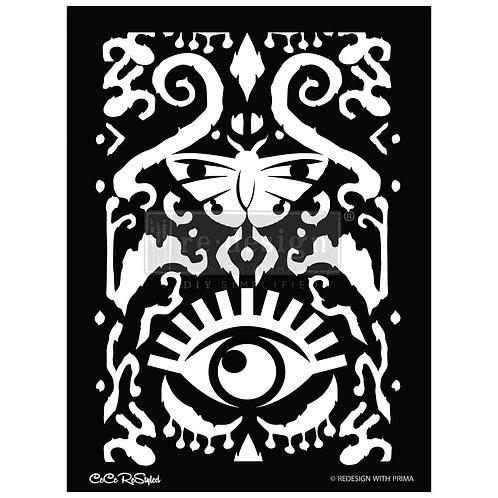 CeCe:  All Seeing Ikat  - Prima Stencil