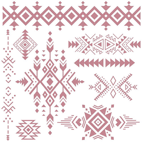 Tribal Prints - Prima Clear Cling Stamp