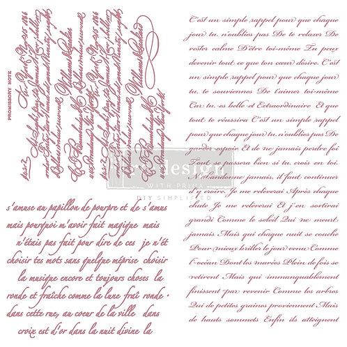 Vintage Script - Prima Clear Cling Stamp