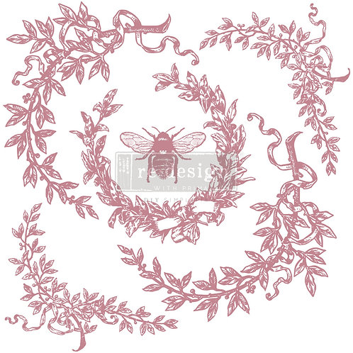 French Laurels - Prima Clear Cling Stamp