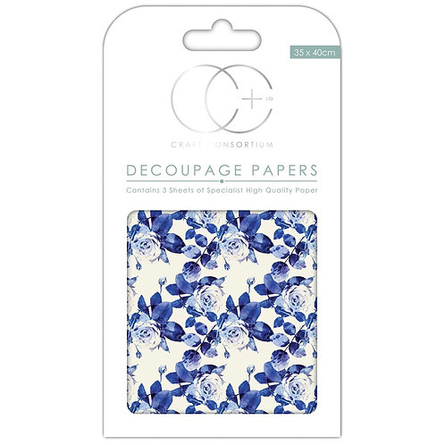 Floral Porcelain  - Craft Consortium Paper