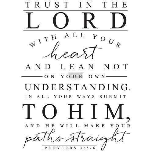 Trust in the Lord   -Prima Transfer