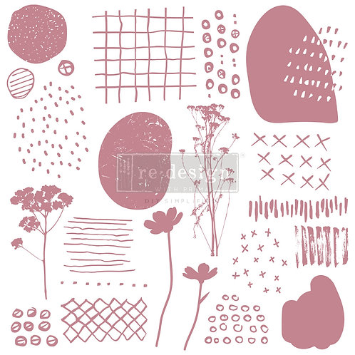Abstract Scribbles - Prima Clear Cling Stamp