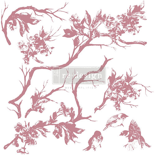 Forest Aviary - Prima Clear Cling Stamp