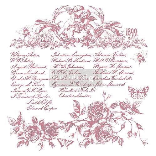 Floral Script - Prima Clear Cling Stamp