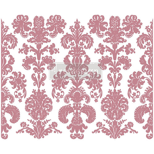 Stamped Damask - Prima Clear Cling Stamp