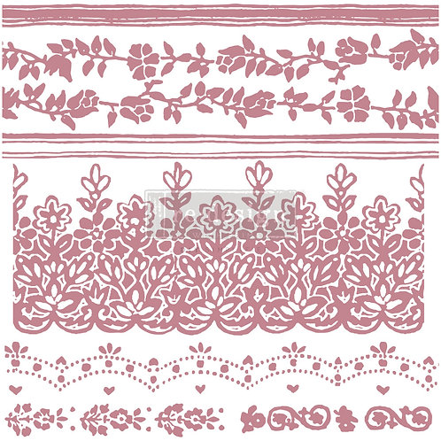 Floral Borders - Prima Clear Cling Stamp