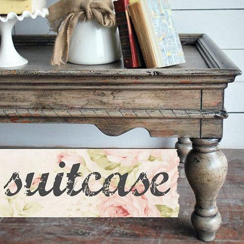 Suitcase- Milk Paint