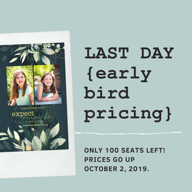 Gala Tickets: Last Day to get Early Bird Pricing