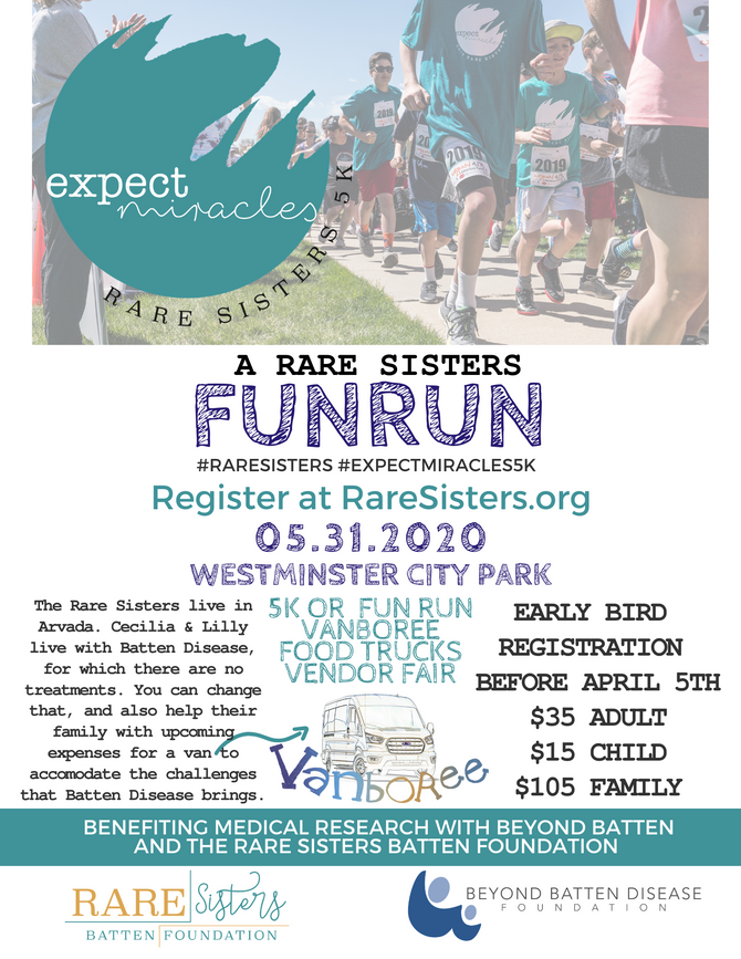 Registration is now open for the 2nd Annual Expect Miracles 5k!
