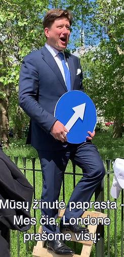 Paulius Kunčinas Hyde parke Londone