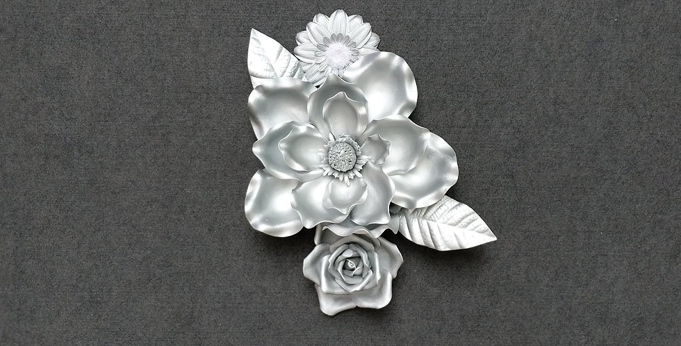 Combination Electric Silver Wall Flowers Set