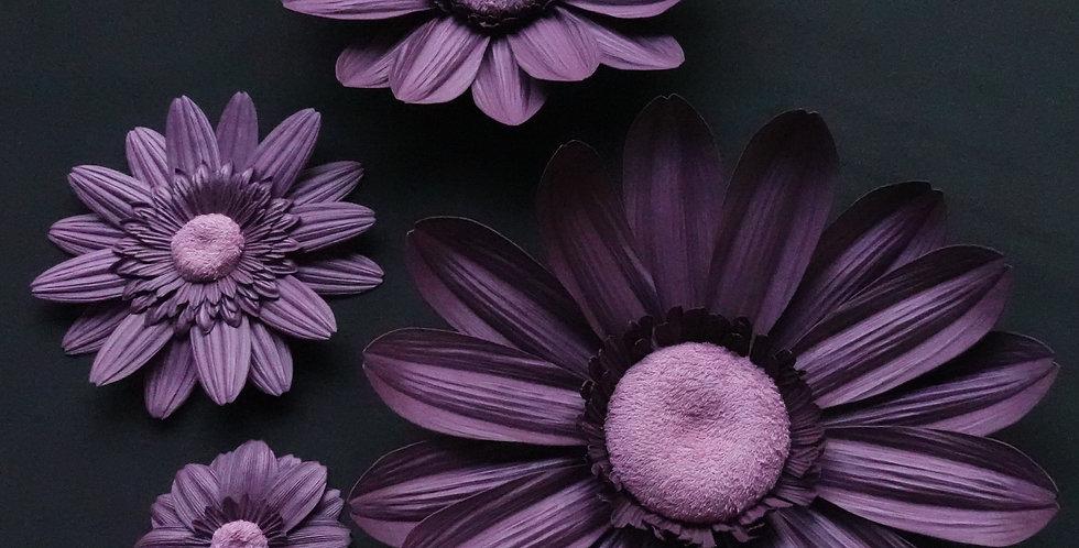 Gerbera Wall Flowers - Mauve