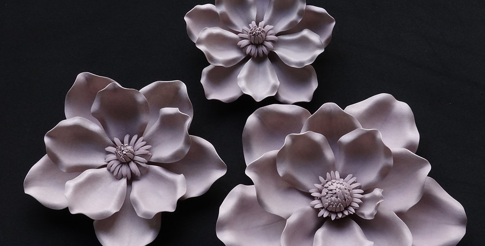 Magnolia Wall Flowers - Light Mauve