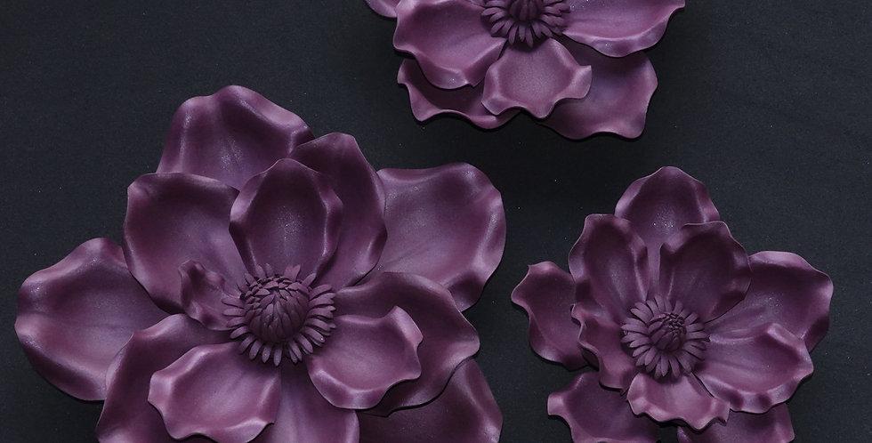 Magnolia Wall Flowers - Mauve
