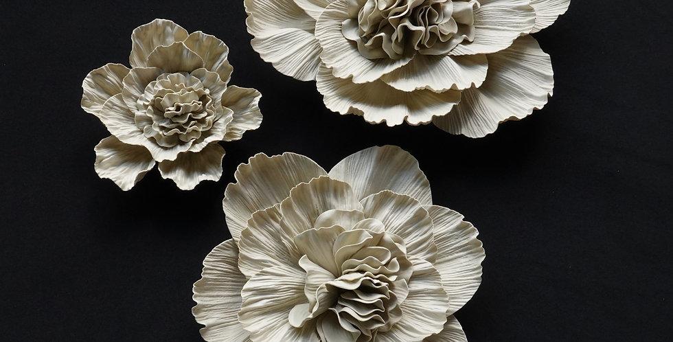 Peony Wall Flowers - Yellowish