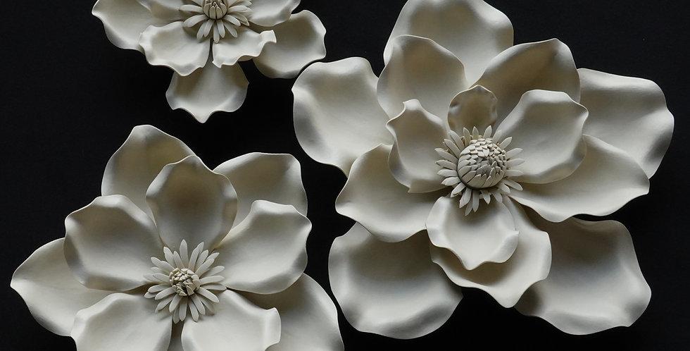 Magnolia Wall Flowers - Yellowish