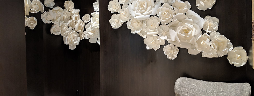 Combination White Wall Flowers Large