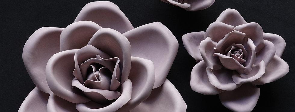 Rose Wall Flowers - Light Mauve
