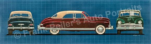 """1949 Kaiser Virginian  40"""" x 12"""" (framed)"""