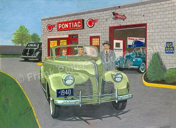 """Brand New '40, Pontiac  24"""" x 18"""" (unframed)"""