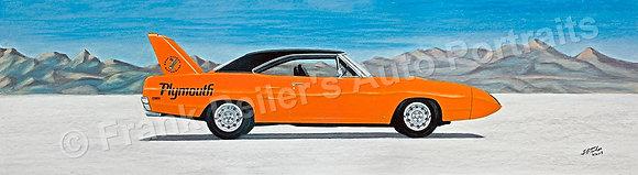 "Plymouth Superbird 37"" x 17"" Print"