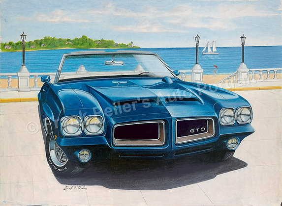 "Blue GTO 24"" x 18"" (unframed)"