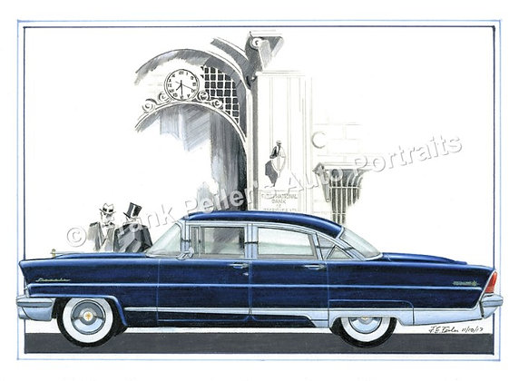 """1956 Lincoln in 1928 22""""x17"""" Print"""
