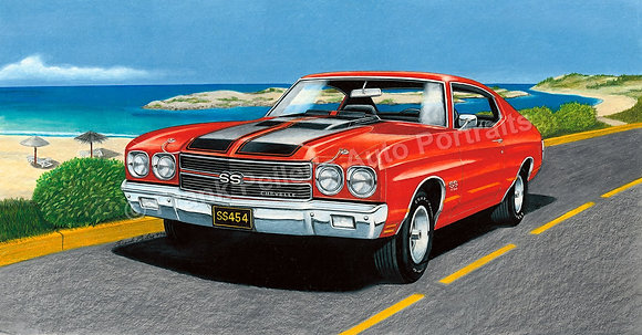 "'70 Chevy Chevelle 30"" x 16.25"" (unframed)"