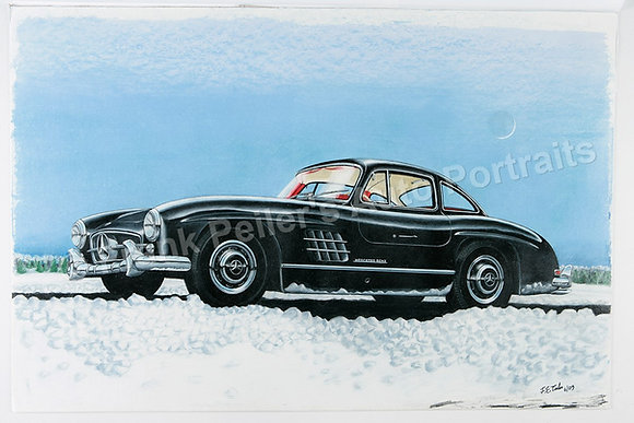 "300SL on Ice 17"" x 13"" Print"