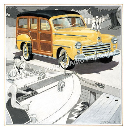 """1948 Ford in 1929 22""""x17"""" Print"""