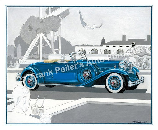 "1932 Packard in 1929 22""x17"" Print"
